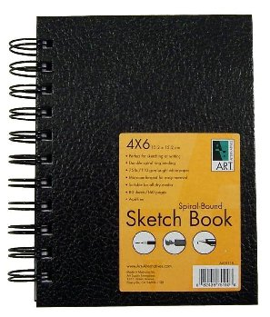 "Sketch Book Spiral-Bound 4""x6"""