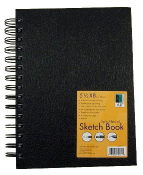 "Sketch Book Spiral-Bound 5.5""x8"""