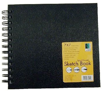 "Sketch Book Spiral-Bound 7""x7"""