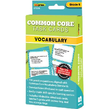 Common Core Vocabulary Task Cards Grade 5