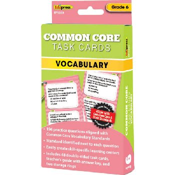 Common Core Vocabulary Task Cards Grade 6