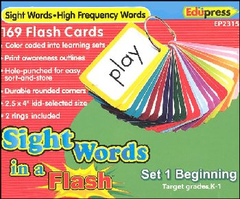 Sight Words in a Flash Flashcards Set 1