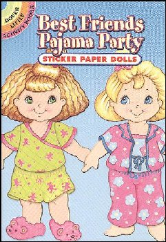 Best Friends Pajama Party Sticker Paper Doll