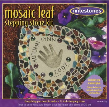Mosaic Leaf Stepping Stone Kit