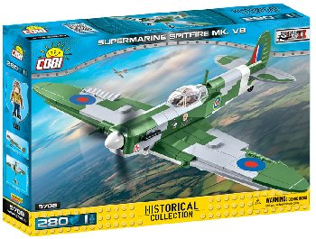 Submarine Spitfire MK. VB - 275 pieces (Small Army WW II Planes)