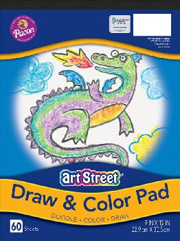 "Art Street Draw & Color Pad - 9"" x 12"" (60 sheets)"