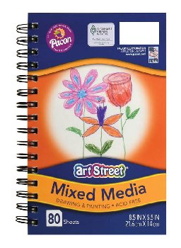 "Art Street Mixed Media Journal (8 1/2"" x 5 1/2"") 80 sheets"
