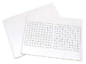 "Math Whiteboard 2-sided (Base 10 squares/Plain) 9"" x 12"""