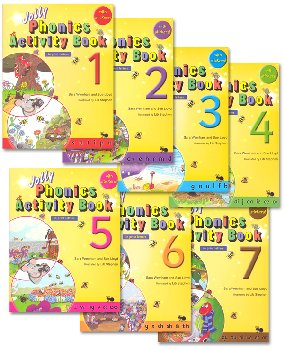 Jolly Phonics Activity Books - Set of Books 1-7 (in print letters)