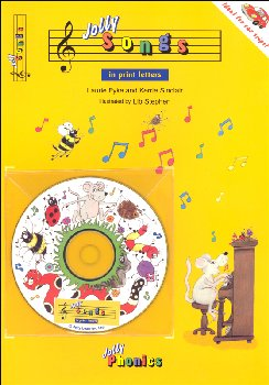 Jolly Songs Book and CD (in print letters)