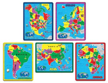 Continent Puzzle Collection (set of 5 puzzles)