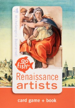 Go Fish for Renaissance Artists Card Game, Bk