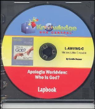 "Apologia Worldview: ""Who Is God"" Lapbook CD-ROM"