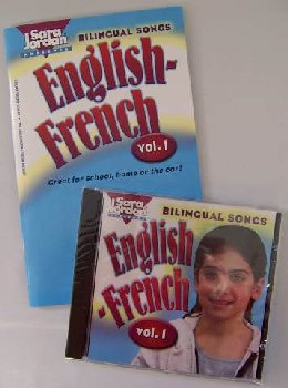 Bilingual Songs Vol 1 English-French Book/CD