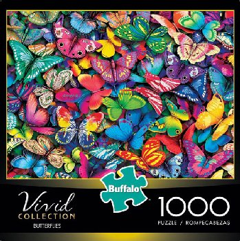 Butterflies Vivid Collection Puzzle (1000-pieces)