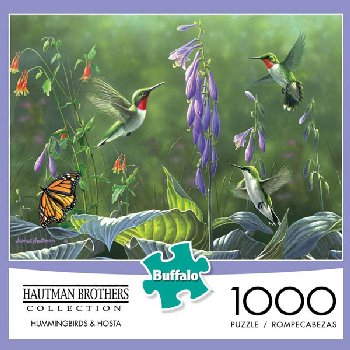 Hummingbirds & Hostas Puzzle (1000-pieces)