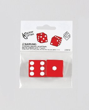 "Red Dice - 25mm (1"") One Pair"