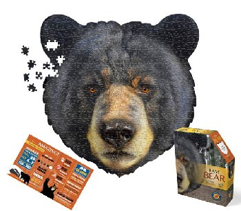I AM Bear Shaped Jigsaw Puzzle - 550 pieces