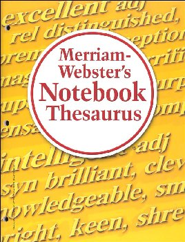 Merriam-Webster's Notebook Thesaurus MassMkt