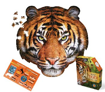 I AM Tiger Shaped Jigsaw Puzzle - 550 pieces