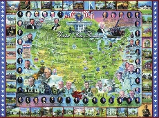U.S. Presidents Collage Puzzle 1000 pc