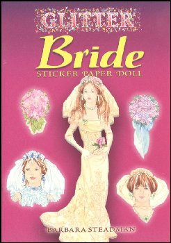 Glitter Bride Sticker Paper Doll