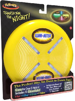 Lumi-Niter Disc: Yellow (includes 16 glowsticks)