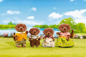 Chocolate Labrador Family (Calico Critters)