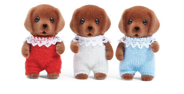 Chocolate Labrador Triplets (Calico Critters)