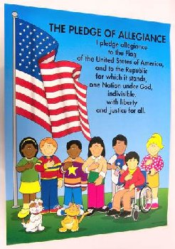 "Pledge of Allegiance Chartlet 17"" x 22"""