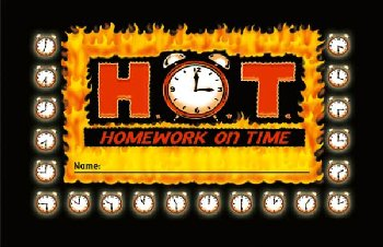 H.O.T. (Homework on Time) Incentive Punch Card