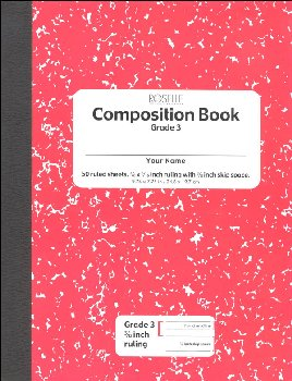 Pacon Composition Book Soft Cover, Ruled - Red Marble (50 sheets)