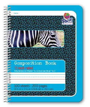 "Pacon Spiral Composition Book - 1/2"" Ruled (Blue)"