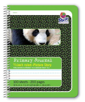 "Pacon Spiral Composition Book - 5/8"" Picture Story Ruled (Green)"