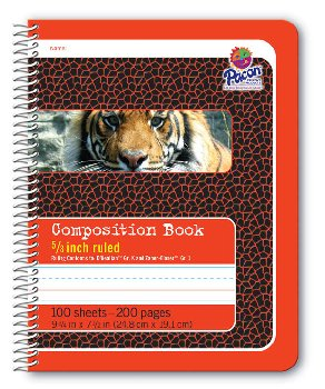 "Pacon Spiral Composition Book - 5/8"" Ruled (Red)"