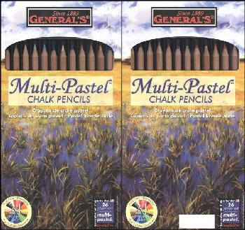 MultiPastel Chalk Pencils 24 colors