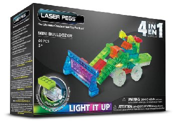 Laser Pegs Construction Bricks 4 in 1 - MPS Mini Bulldozer
