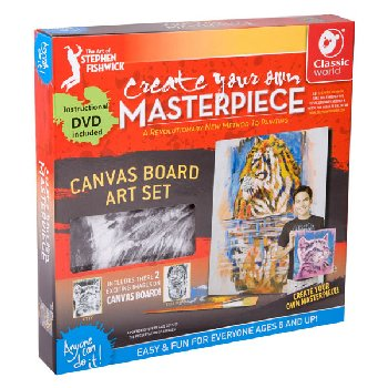 "Create Your Own Masterpiece: Tiger & Kitten Set 12"" x 12"""