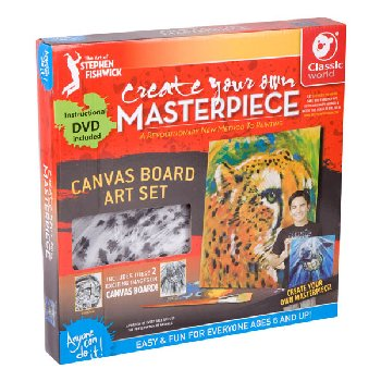 "Create Your Own Masterpiece: Sea Turtle & Cheetah Set 12"" x 12"""