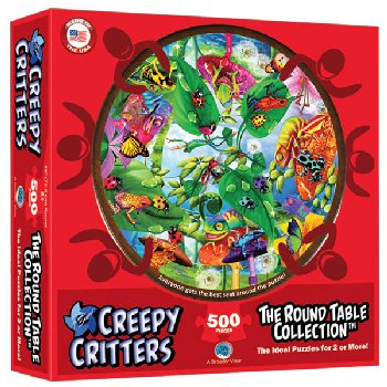 Creepy Critters 500 Piece Puzzle (Round Table Collection)