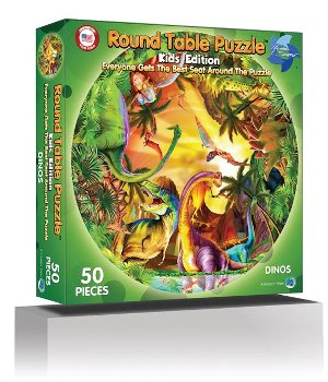 Dinos 50 Jumbo Pieces Puzzle (Round Table Kid's Edition Collection)