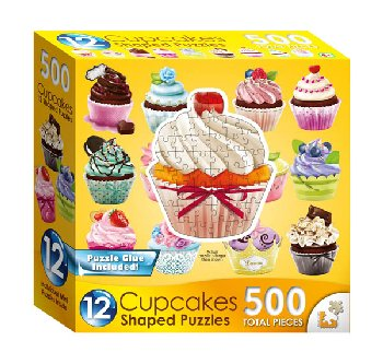 Mini Shaped Cupcake Puzzle (500 Pieces)