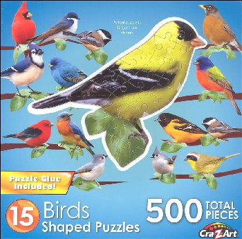 Mini Shaped Songbirds Puzzle (500 Pieces)