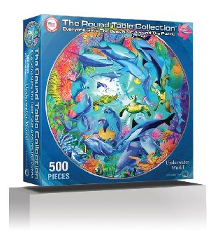 Underwater World 500 Piece Puzzle (Round Table Collection)