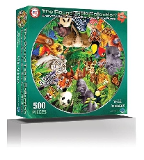 Wild Animals 500 Piece Puzzle (Round Table Collection)