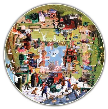 Year at the Park 500 Piece Puzzle (Round Table Collection)