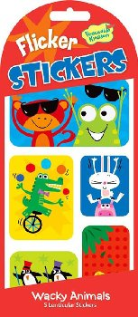 Wacky Animals Flicker Stickers