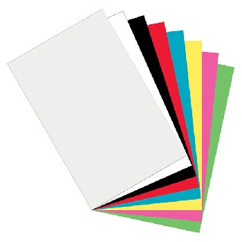 "Pacon Plastic Art Sheets - 11"" x 17"" (8 colors)"