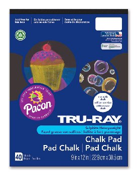 "Tru-Ray Chalk Pad Jet Black - 9"" x 12"" (40 Sheets)"