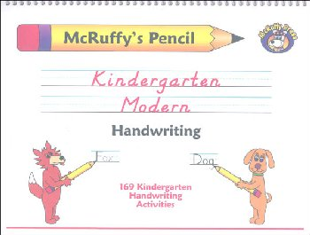 Pencil Kindergarten Modern Handwriting Book